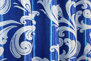 """Двусторонняя ткань блэкаут коллекция """"Лилия"""". Высота 2,8м. Цвет синий с светло-серым. Код 689ш"""