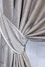 """Шторнаятканьлён блэкаут рогожка, коллекция """"Саванна"""", высота 2,8м. Цвет бежевый. Код 686ш"""