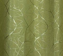 """Шторнаятканьлён блэкаут рогожка, коллекция """"Саванна"""", высота 2,8м. Цвет оливковый. Код 637ш"""