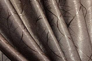 """Шторнаятканьлён блэкаут рогожка, коллекция """"Саванна"""", высота 2,8м. Цвет коричневый. Код 688ш"""