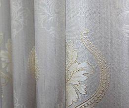 """Ткань лён рогожка, коллекция """"Корона Мария"""". Высота 2.8м. Цвет cветло-серый с молочным. Код 677ш"""