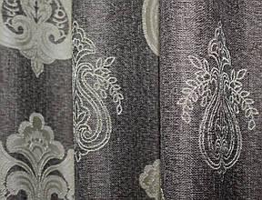 """Ткань лён рогожка, коллекция """"Корона Мария"""". Высота 2.8м. Цвет капучино с бежевым. Код 667ш"""