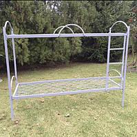 Кровать двухярусная металлическая 80*190 с лестницей (цена с НДС)