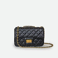 Класична жіноча сумка маленька чорна C5006