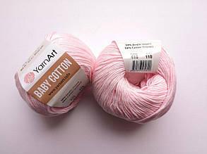 Пряжа Беби Коттон ЯрнАрт YarnArt Baby Cotton  цвет 410 светло-розовый