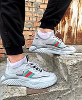 Мужские кроссовки для повседневной носки из текстиля на пене , серые