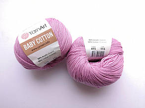 Пряжа Беби Коттон ЯрнАрт YarnArt Baby Cotton  цвет 415 розовый