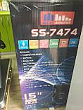 Колонка аккумуляторная Sky Sound-7474 15 дюймов с микрофоном 180W (USB/FM/Bluetooth/TWS), фото 6