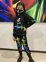 Детский светящийся 3D костюм унисекс Tik Tok (Тик Ток). Маска в подарок