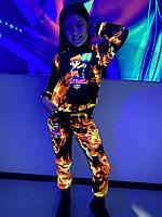 Детский светящийся 3D костюм унисекс Brawl Stars огни (Бравл Старс). Маска в подарок
