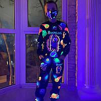Детский светящийся 3D костюм унисекс AMONG.US планеты (Амонг Ас). Маска в подарок