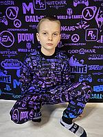 Детский светящийся 3D костюм унисекс Геймер. Маска в подарок