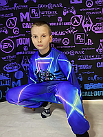 Детский светящийся 3D костюм унисекс Squad Fortnite (Фортнайт). Маска в подарок