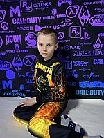 Детский светящийся 3D костюм унисекс Черный рыцарь Fortnite (Фортнайт). Маска в подарок