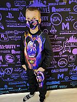Детский светящийся 3D костюм унисекс Collet Brawl Stars (Коллет Бравл Старс). Маска в подарок