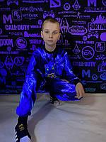Детский светящийся 3D костюм унисекс Brawl Stars Leon Оборотень (Бравл Старс Леон). Маска в подарок