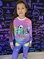 Детский светящийся 3D костюм унисекс Fall Guys (Фул Гас). Маска в подарок