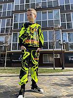 Детский светящийся 3D костюм унисекс Fortnite Жёлтый (Фортнайт Жёлтый). Маска в подарок
