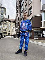Детский светящийся 3D костюм унисекс Fortnite Маршмелоу (Фортнайт Маршмелоу). Маска в подарок