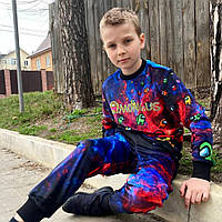 Детский светящийся 3D костюм унисекс AMONG.US new (Амонг Ас). Маска в подарок