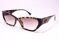 Женские солнцезащитные квадратные очки Дольче Габбана 2091 C4 реплика в леопардовой оправе