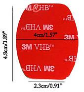 Набор: Скотч 3М двухсторонний для плоских и изогнутых платформ стандарта GoPro  (3+3 шт.), фото 3