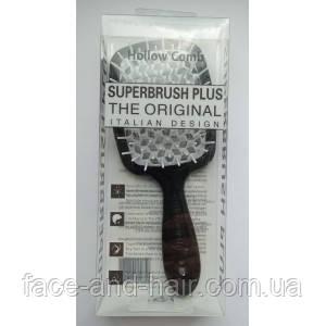 Расческа для волос Hollow Comb Superbrush Plus черная с белым 1шт