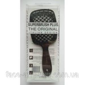 Расческа для волос Hollow Comb Superbrush Plus черная 1шт
