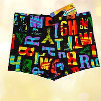 Плавки шорты  купальные детские черные Размеры 104-110 116-122 128-134 140-146 128
