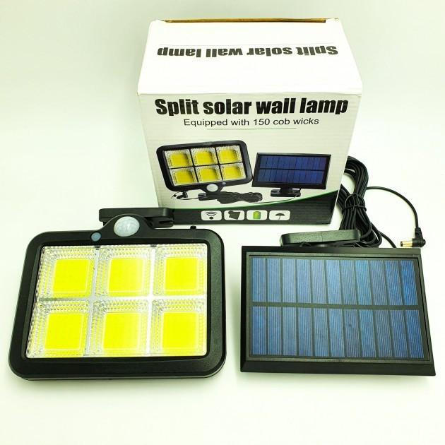 Вуличний ліхтар з датчиком руху Split Solar Wall Lamp на сонячній батареї