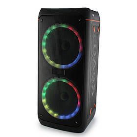 Портативна колонка Su-Kam 0808+ 1 мікрофон + BT 12v   220v