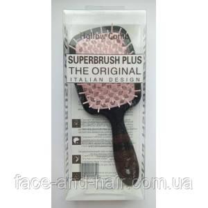 Расческа для волос Hollow Comb Superbrush Plus черная с розовым 1шт