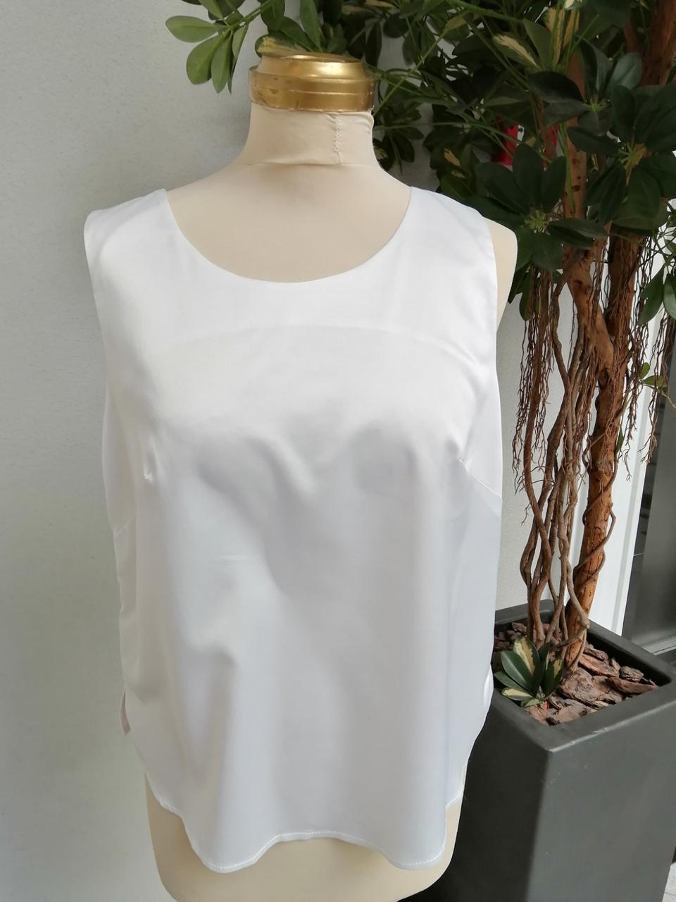 Блуза женская белая атласная Rica Mare MKRM1367-20 VB