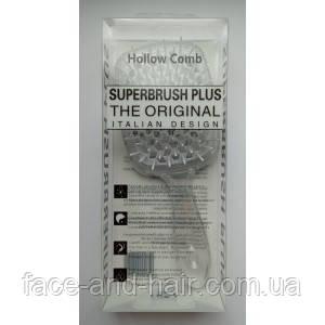 Расческа для волос Hollow Comb Superbrush Plus прозрачная с белым 1шт