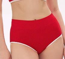 Плавки с завышенной талией для купания женские, цвет красный