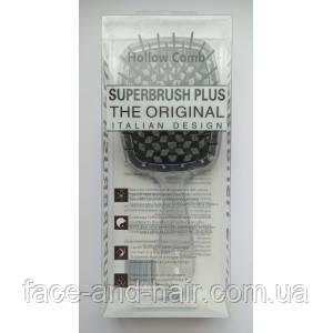 Расческа для волос Hollow Comb Superbrush Plus прозрачная с черным 1шт