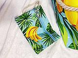 Пляжна сумка на блискавці з принтом Полуниця , плетеними ручками - канатами і гаманцем в подарунок, фото 7