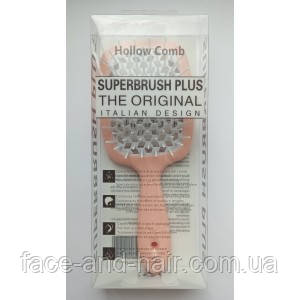 Расческа для волос Hollow Comb Superbrush Plus персиковый с белым 1шт