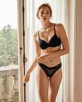 Чорний комплект білизни Victorias Secret ліф і трусики, фото 9