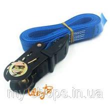 Сил ремінною з натяжним пристроєм (трещітка) 4 метри (ПЛАСТИК)