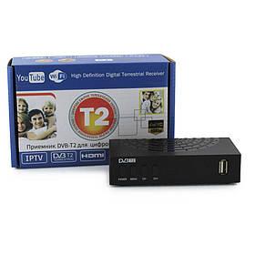 Тюнер DVB-T2 MEGOGO LCD (Приймач DVB-T2 для цифрового телебачення з підтримкою Wi-Fi адаптера)