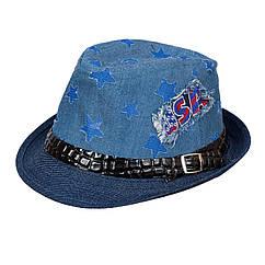 Шляпа детская НЧ001 джинс/электрик р.52-53