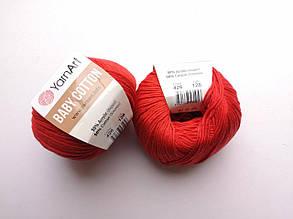 Пряжа Беби Коттон ЯрнАрт YarnArt Baby Cotton  цвет 426 красный