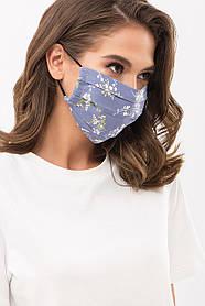 Многоразовая защитная маска с рисунком и принтом для лица на резинке