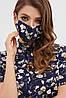 Багаторазова захисна маска з малюнком і принтом для особи на гумці, фото 5