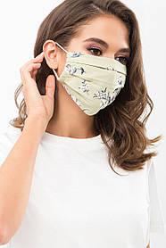 Легкая защитная маска с рисунком и принтом для лица на резинке