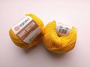 Пряжа Беби Коттон ЯрнАрт YarnArt Baby Cotton  цвет 432 желтый