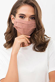 Нежная маска из батиста и софта с принтом для лица на резинке