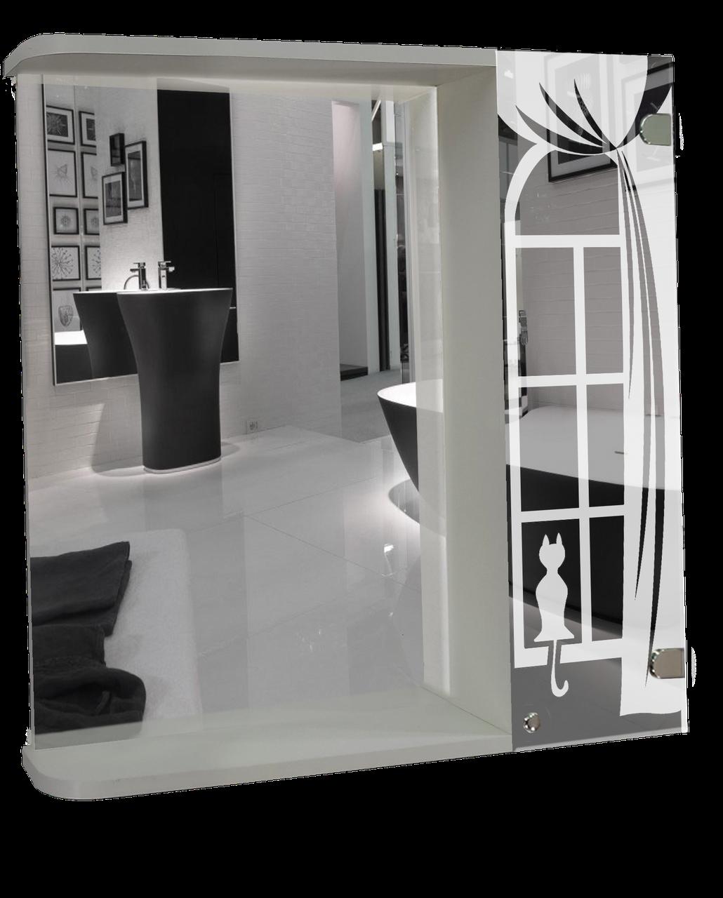 Шкаф-зеркало (53*64*12см) ШК846