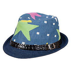Шляпа детская НЧ002 джинс р.52-53